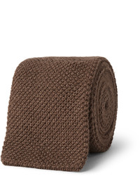 Cravate en tricot marron Richard James