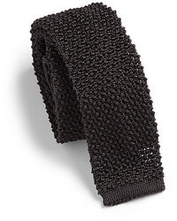 Cravate en tricot noir
