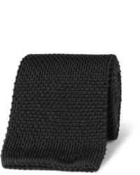 Cravate en tricot noire Brioni
