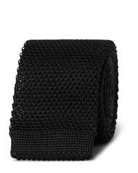 Cravate en tricot noire Burberry