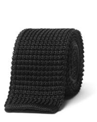 Cravate en tricot noire