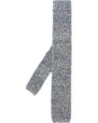 Cravate en tricot noire Eleventy