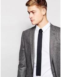 Cravate en tricot noire Jack and Jones