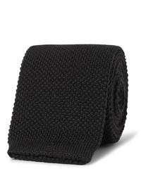 Cravate en tricot noire Paul Smith