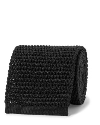 Cravate en tricot noire Tom Ford