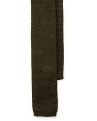 Cravate en tricot olive