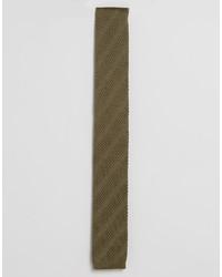 Cravate en tricot olive Asos