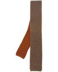 Cravate en tricot orange Eleventy
