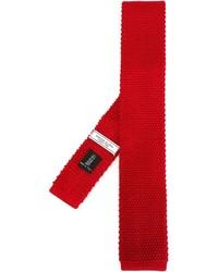 Cravate en tricot rouge