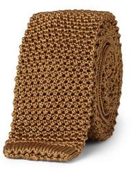 Cravate en tricot tabac Charvet