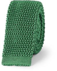 Cravate en tricot vert foncé Charvet