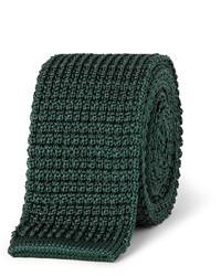 Cravate en tricot vert foncé Lanvin