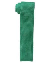 Cravate en tricot verte