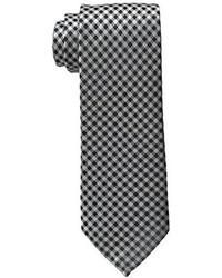 Cravate en vichy blanche et noire