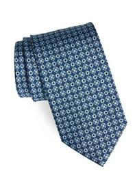 Cravate géométrique bleue