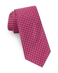 Cravate géométrique fuchsia