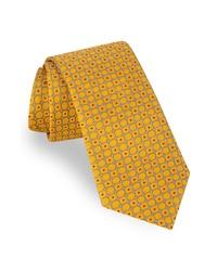 Cravate géométrique jaune