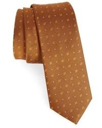 Cravate géométrique orange