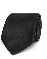 Cravate gris foncé Alexander McQueen