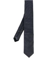 Cravate gris foncé Armani Collezioni
