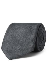 Cravate gris foncé Charvet