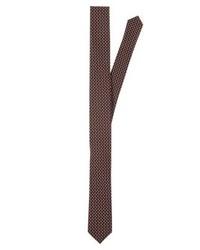 Cravate imprimé brun Olymp