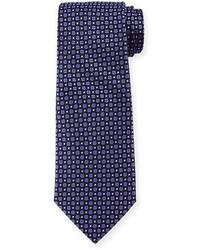 Cravate imprimé pourpre foncé Armani Collezioni