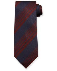 Cravate imprimé pourpre foncé Tom Ford