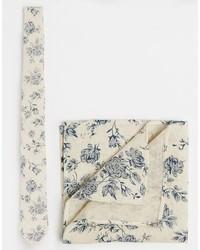 Cravate imprimée beige Asos