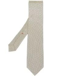 Cravate imprimée beige