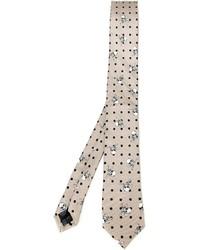 Cravate imprimée beige Dolce & Gabbana