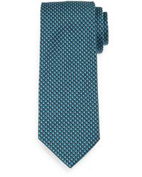 Cravate imprimée bleu canard
