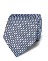 Cravate imprimée bleu clair Brioni