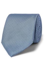 Cravate imprimée bleu clair Canali