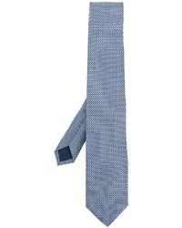 Cravate imprimée bleu clair Salvatore Ferragamo