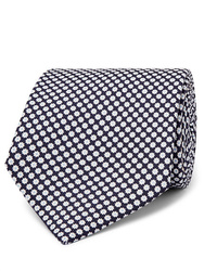 Cravate imprimée bleu marine et blanc Emma Willis