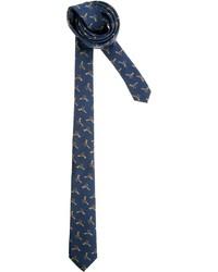 Cravate imprimée bleu marine Asos