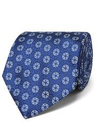 Cravate imprimée bleu marine Charvet