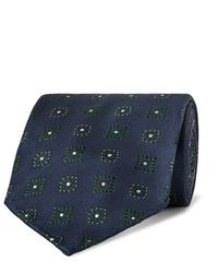 Cravate imprimée bleu marine Drake's