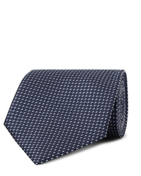 Cravate imprimée bleu marine Ermenegildo Zegna