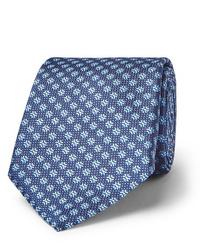 Cravate imprimée bleue Canali