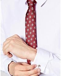 Cravate imprimée bordeaux Asos