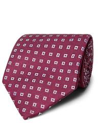 Cravate imprimée bordeaux Charvet
