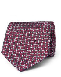 Cravate imprimée bordeaux Ermenegildo Zegna