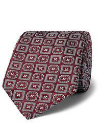 Cravate imprimée bordeaux Kingsman