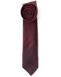 Cravate imprimée bordeaux Mr Start