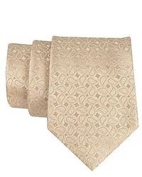 Cravate imprimée cachemire beige