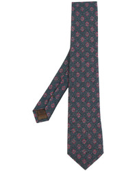 Cravate imprimée cachemire bleu canard Church's