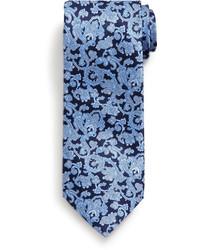 Cravate imprimée cachemire bleu marine