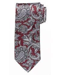 Cravate imprimée cachemire bordeaux